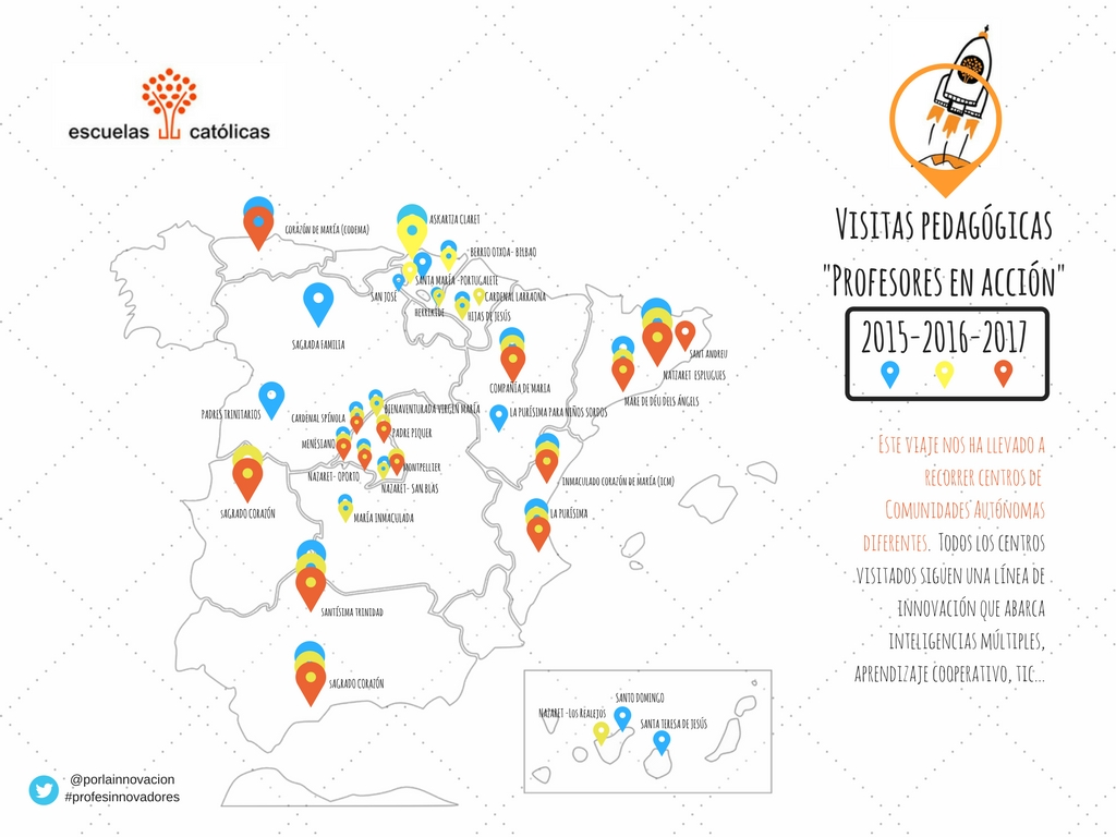 Mapa_Visitas pedagógicas _Profesores en acción